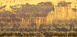 Abstraction (rust and straw)